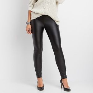 MAURICES Black Faux Leather Leggings Size Small